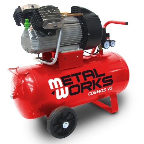 compresor de aire 3cv. 2 cilindros/ 2 etapas 50 litros metalworks orion v3