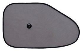 Cortina parasol lateral triangular con ventosa 65 x 38 cm. 2 unidades