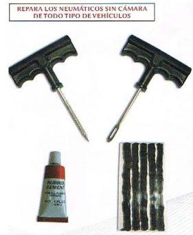 Kit Reparación Pinchazos para Coche, Moto o Quad