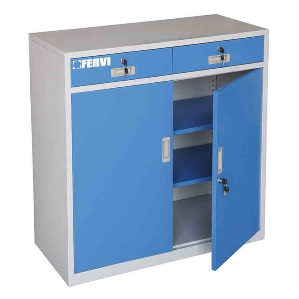 armario-bajo-metalico-doble-con-puertas-y-cerraduras-llave-fervi-a300