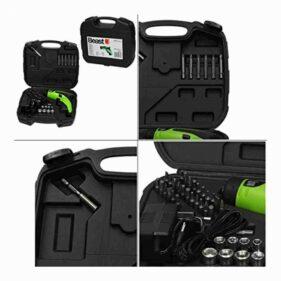 Atornillador a Bateria 3,6V con Kit de 44 Accesorios y Maleta