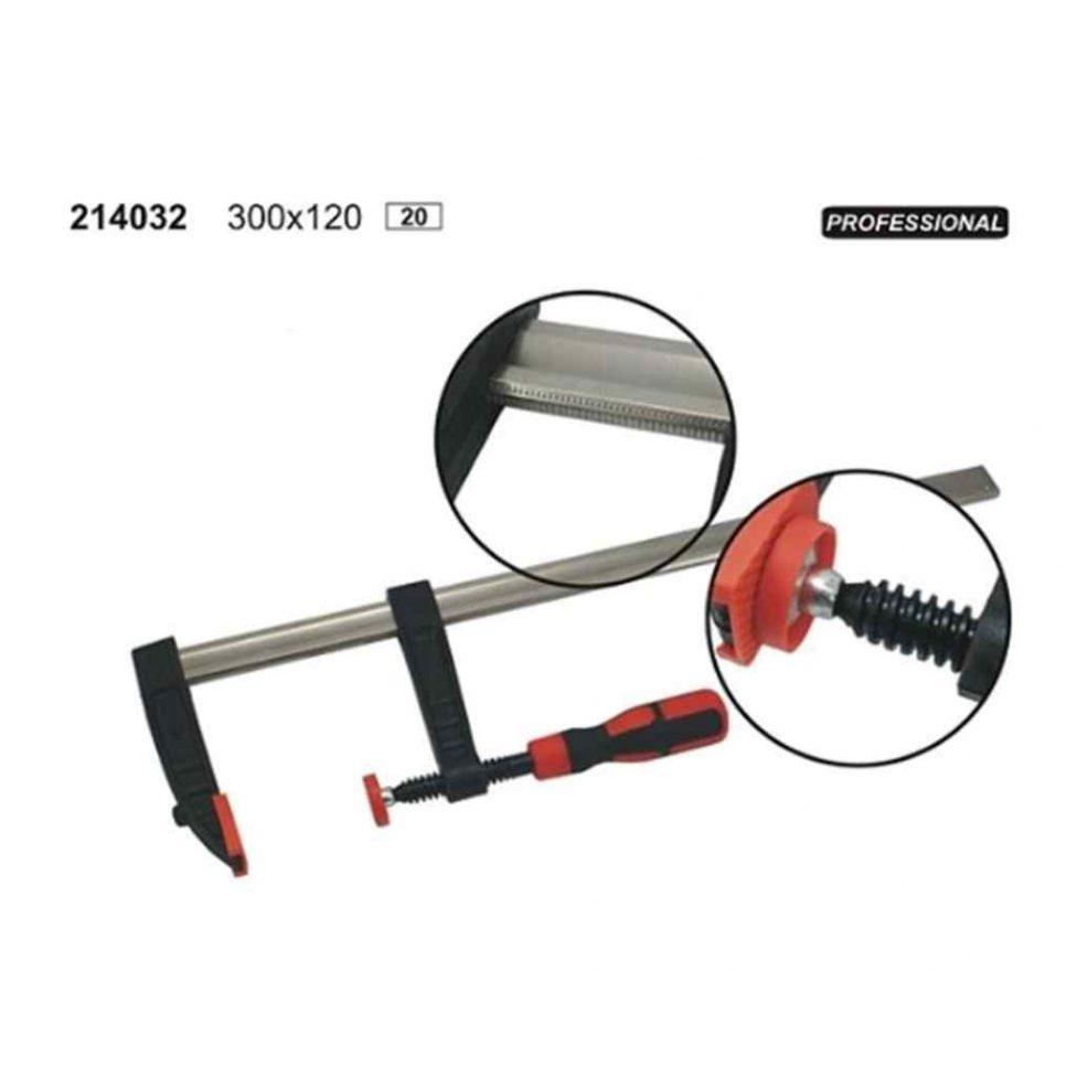 Sargento Mordaza Profesional Para Carpintero 300x120mm.