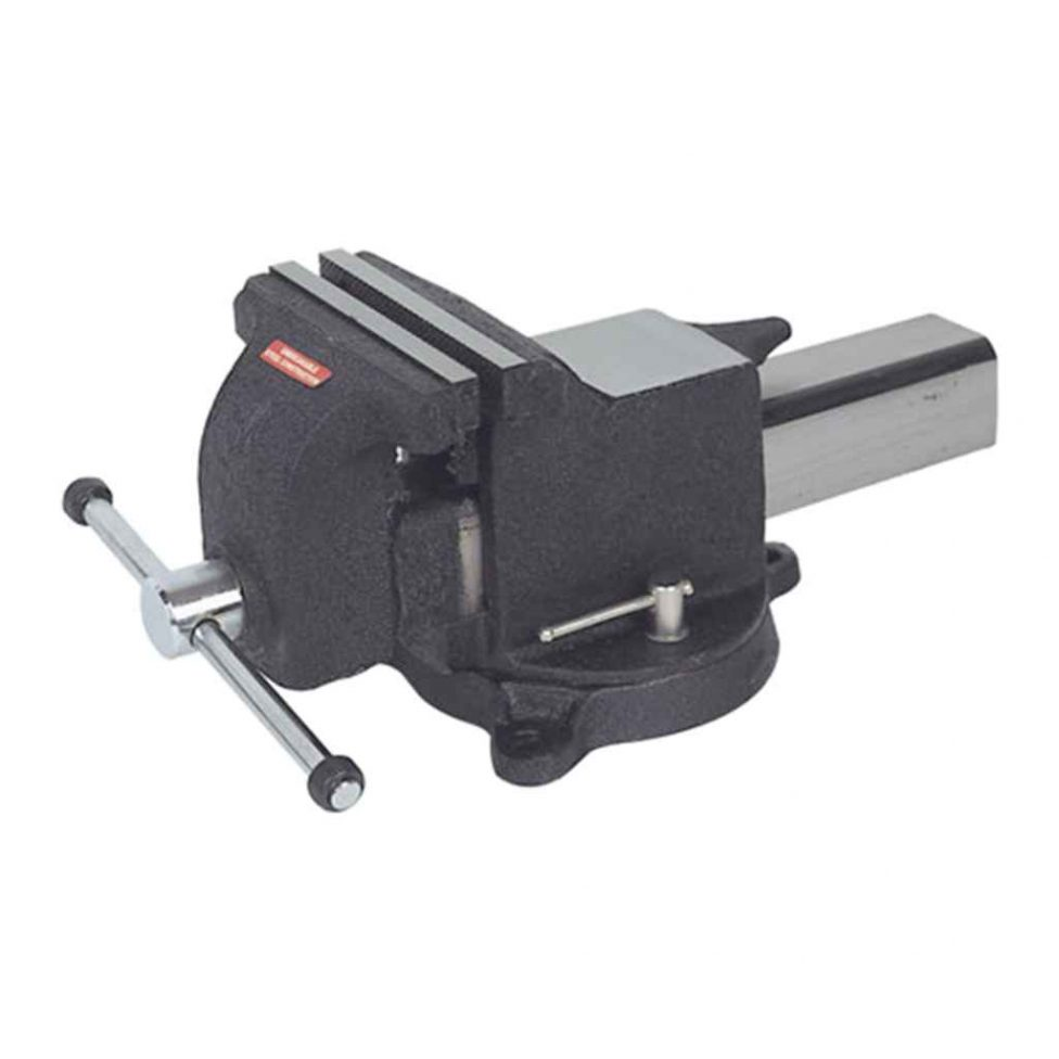Tornillo de banco acero con base giratoria 200 mm.