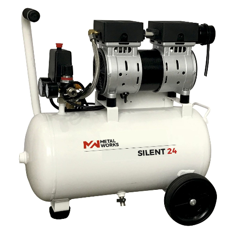 compresor de aire metalworks silent 24 - sin aceite