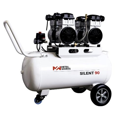 compresor de aire metalworks silente 90 - sin aceite